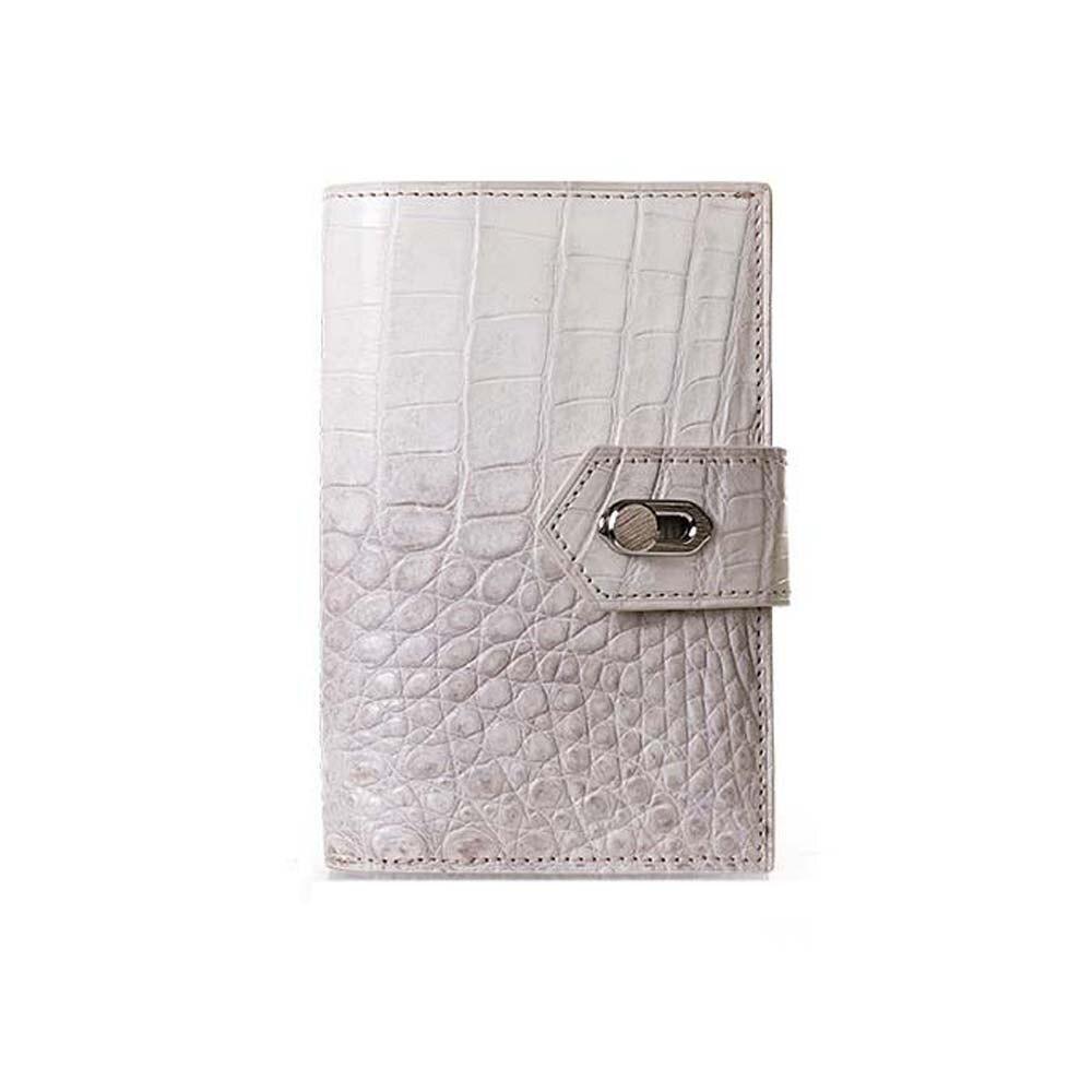 menggeka new Thailand  crocodile leather  men wallet  female  Brief Genuine crocodile leather  zipper wallet large capacity
