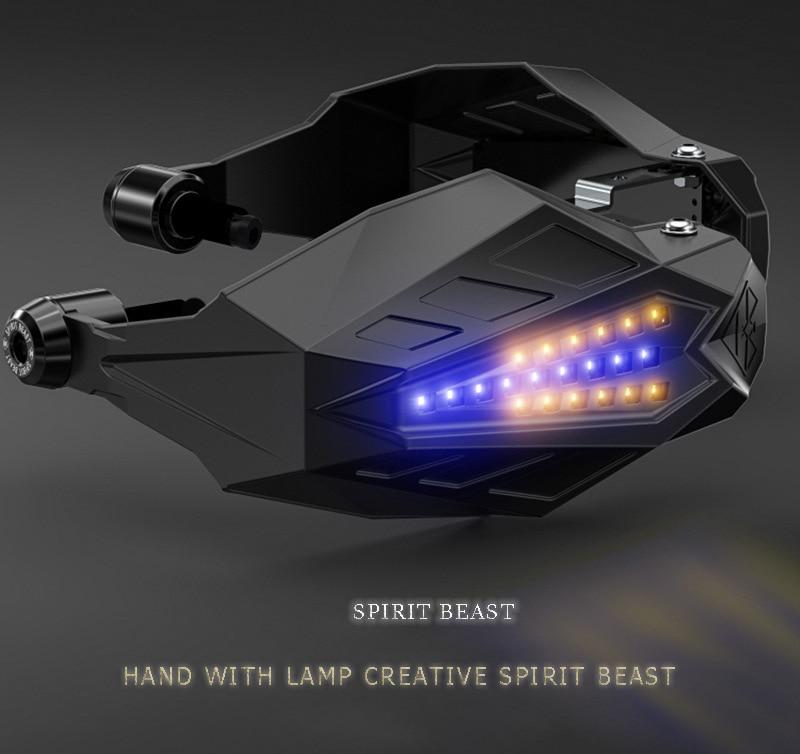 Protector de viento para motocicleta luz LED para aprilia Pegasus strada 650 ducati monster 900 yamaha yz250f triumph street twin