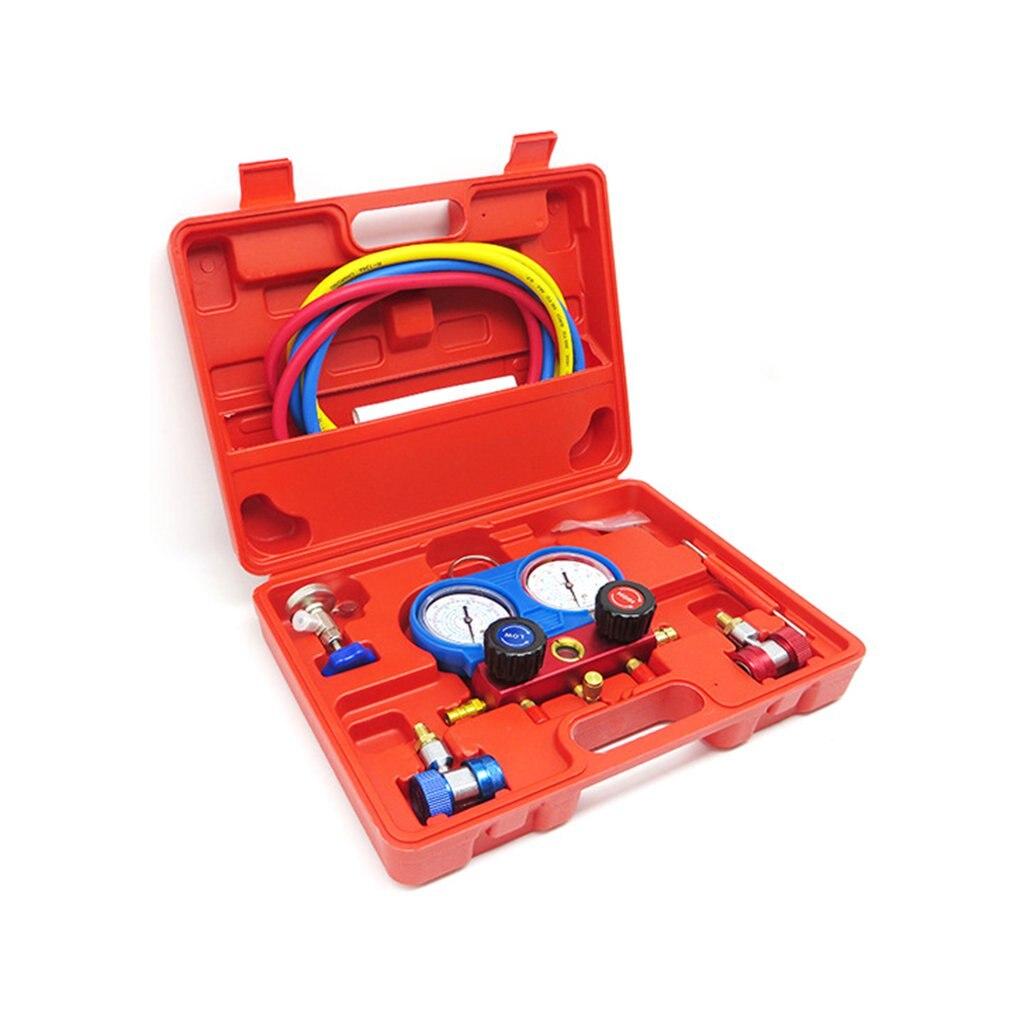 R134A набор для охлаждения HVAC A/C, набор манометров переменного тока, автомобильный воздушный вакуумный насос, кондиционер, ремонт, инструмент ...