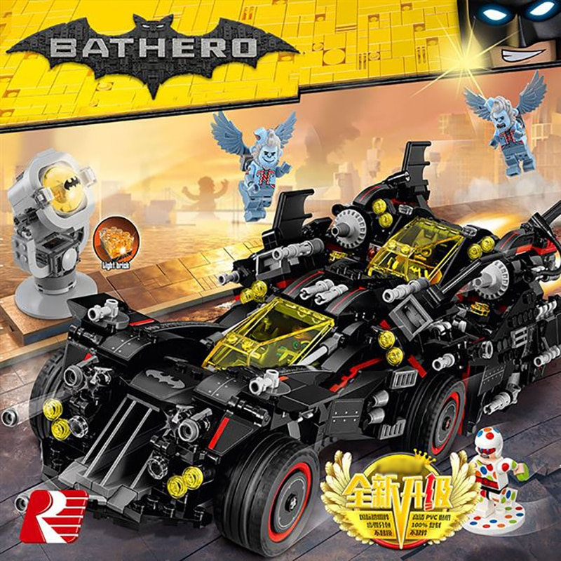 1456 Uds. Superhéroes DC Batman los mejores bloques de construcción Batmóvil ladrillos compatibles lepinglys 70917 juguetes navideños para niños regalo