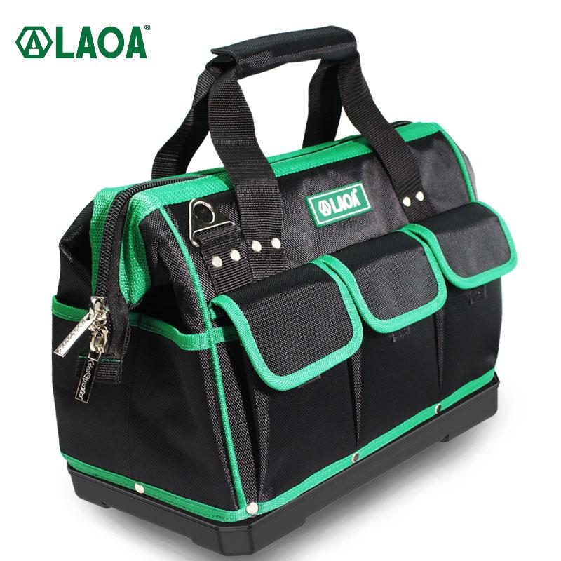 LAOA حقيبة يد سعة كبيرة طقم أدوات إصلاح المياه برهان تخزين حقائب الصلب أسفل الكتف حزام حقيبة أدوات الكهربائي