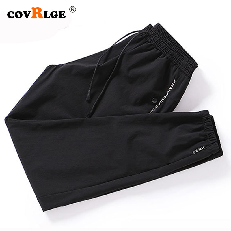 Covrlge Brand Men Pants 2019 Spring Autumn Casual Mens Comfortable Trousers Classics Straight Nine pants Fashion MKX048