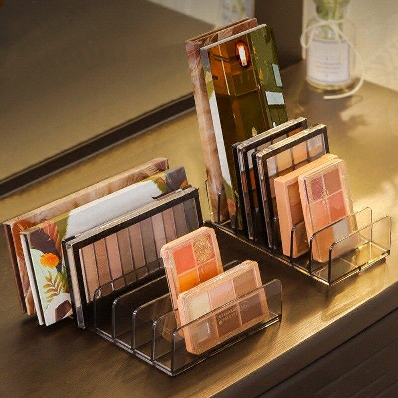 Eyeshadow Palette Organizer Powder Case Storage Box Makeup Tools Holder Compartment Transparent Plastic Desktop Storage Case