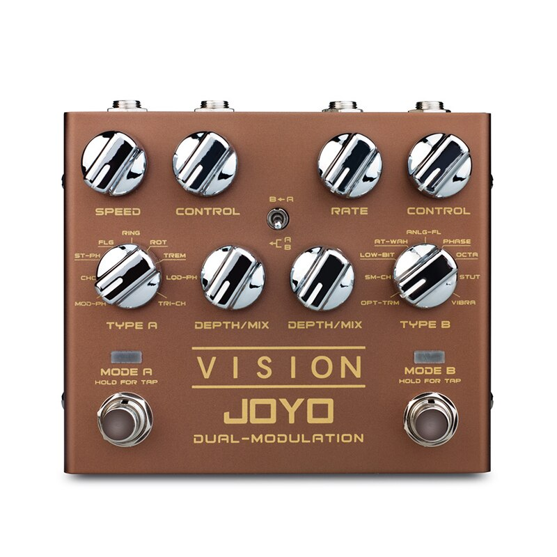 JOYO R-09 Guitar Effect Vision Multi-effect Pedal Nine Effects Dual Channel Modulation Pedal Tap Tempo Mini Effect True Bypass enlarge