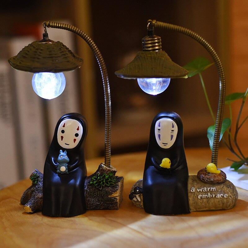 Luz de noche LED Miyazaki Hayao lámpara táctil niños luces de mesa accesorios de luz de dormitorio Navidad bebé regalo