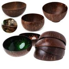 Bol de rangement de bijoux en coquille de noix de coco   Coquille de noix de coco naturelle, décoration de la maison, conteneur de nourriture, bol de stockage de noix de coco coloré et Ambilight naturel