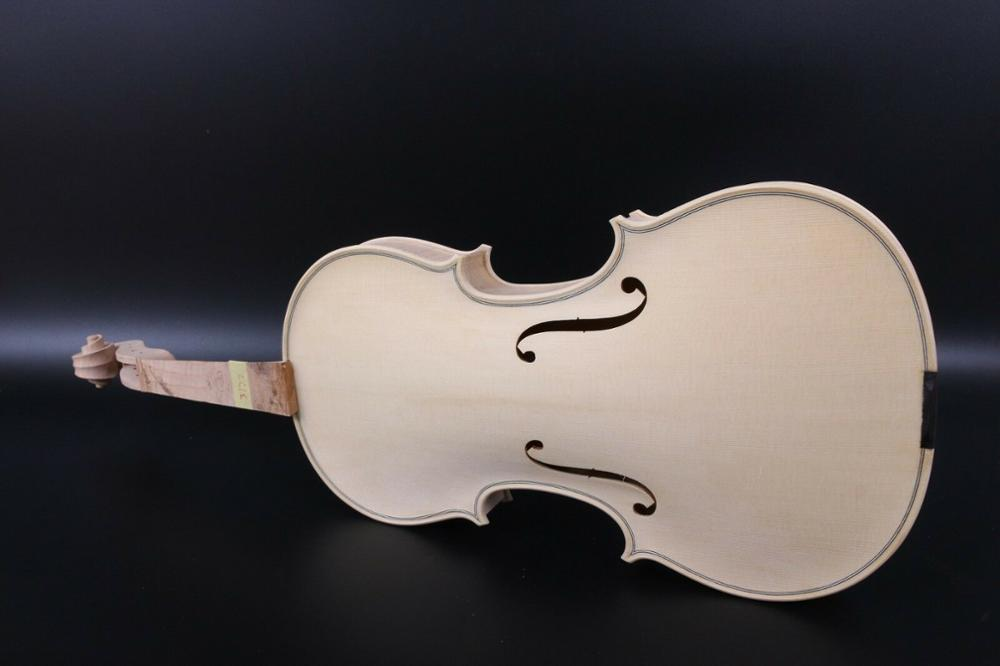 4/4 Violin unfinished White violin Kit Accessories One piece Tiger Flame enlarge