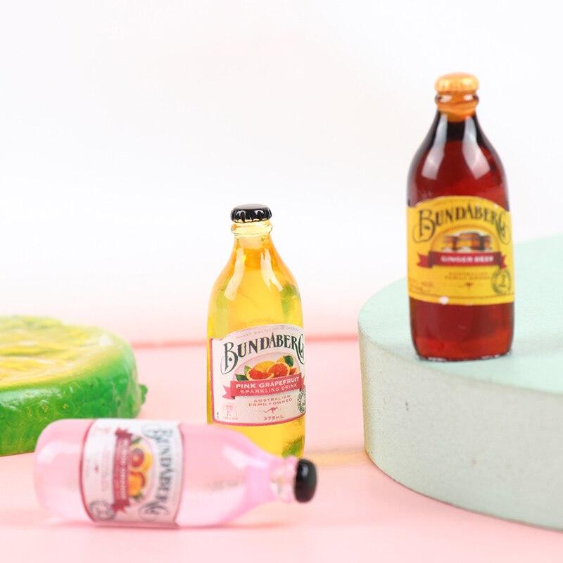 10pcs 1/12 Scale Dollhouse Cute Mini Coke Miniature Beverage Bottle Wink Soda Drink Pretend Play Food Toys Kitchen Accessories