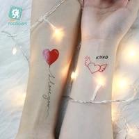 hot sale love heart tattos sticker women men couple body art finger arm shoulder fake waterproof temporary tattoo sticker