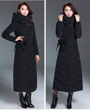 Doudoune hiver longue canard veste femme à capuche Parkas 2020 chaud noir manteau femmes vestes Chaquetas Invierno Mujer KJ496