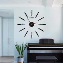 Büyük duvar saati duvar saati 3D DIY duvar saati modern tasarım ayna çıkartmaları oturma odası ev dekor avrupa horloge