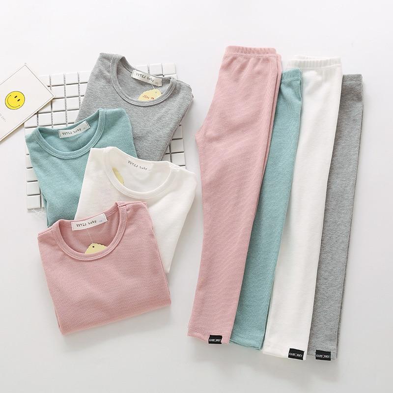 Kids Boys Pajama Sets Cartoon Print Long Sleeve O-Neck Cute T-Shirt Tops with Pants Baby Girls Child Autumn Sleeping Clothes