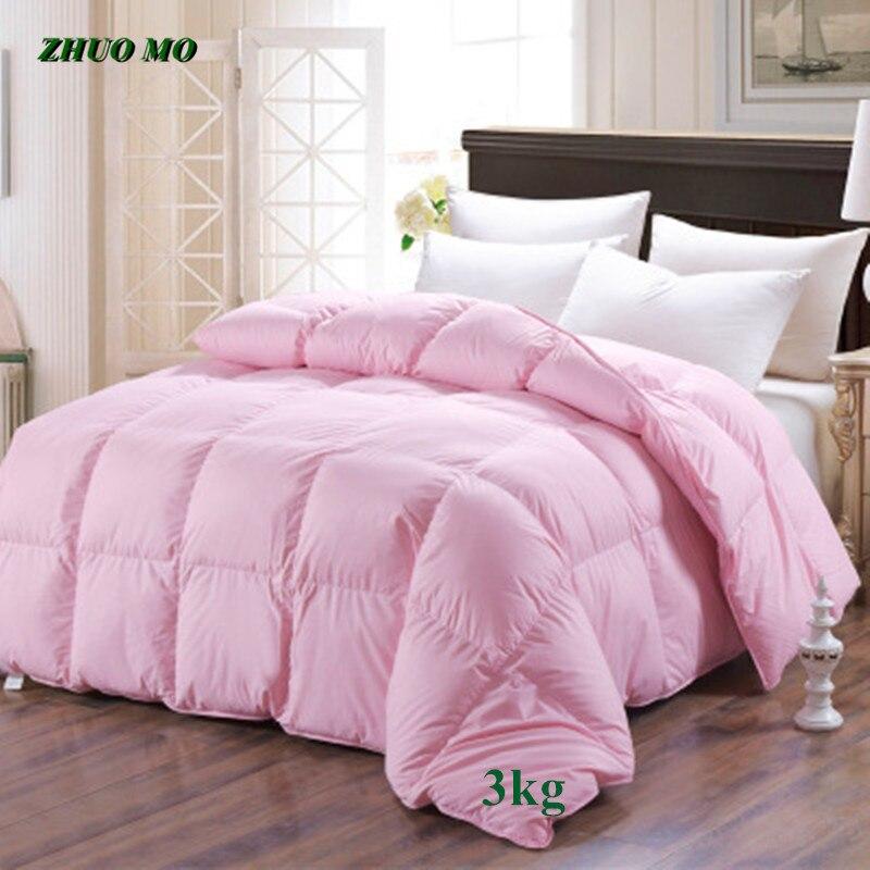 لحاف شتوي سميك 3 كجم ، 180 × 220 سنتيمتر ، سرير كوين للرجال والنساء ، 100% قطن ، فندق ، منزل ، كوين ، كينج ، مقاس دافئ ، 6 ألوان ، هدية