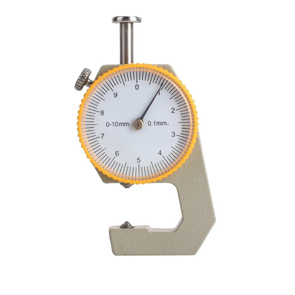 Прочный тестер, металлический инструмент для анализа кожи, подарок, измеритель толщины циферблата, серебристо-желтый микрометр, толщиномер для рукоделия