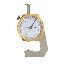 Robust Tester Metall Leder Analyse Werkzeug Geschenk Zifferblatt Dicke Meter Silber Gelb Mikrometer Handwerk Dicke Gauge