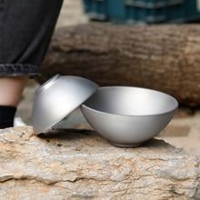 Tiartisan titane bol bol de riz saladier 250 ml/450 ml en plein air Camping pique-nique vaisselle Portable ustensiles de cuisine livraison directe
