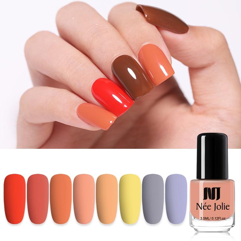 NEE JOLIE vernis à ongles 3.5ml vert rouge solide couleur des ongles séchage rapide vernis à ongles Art vernis à ongles Design vernis à ongles 41 couleurs