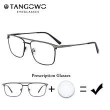 TANGOWO-lunettes à degrés pour hommes   Monture de lunettes rétro de Prescription hommes, verre Non sphérique hommes Vintage élégant lunettes