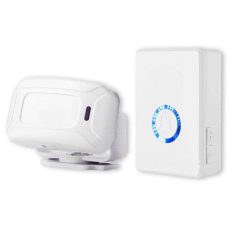 Wireless Waterproof Motion Sensor,Door Window Alert Alarm,Infrared Sensor Doorbell for Home&Garage D