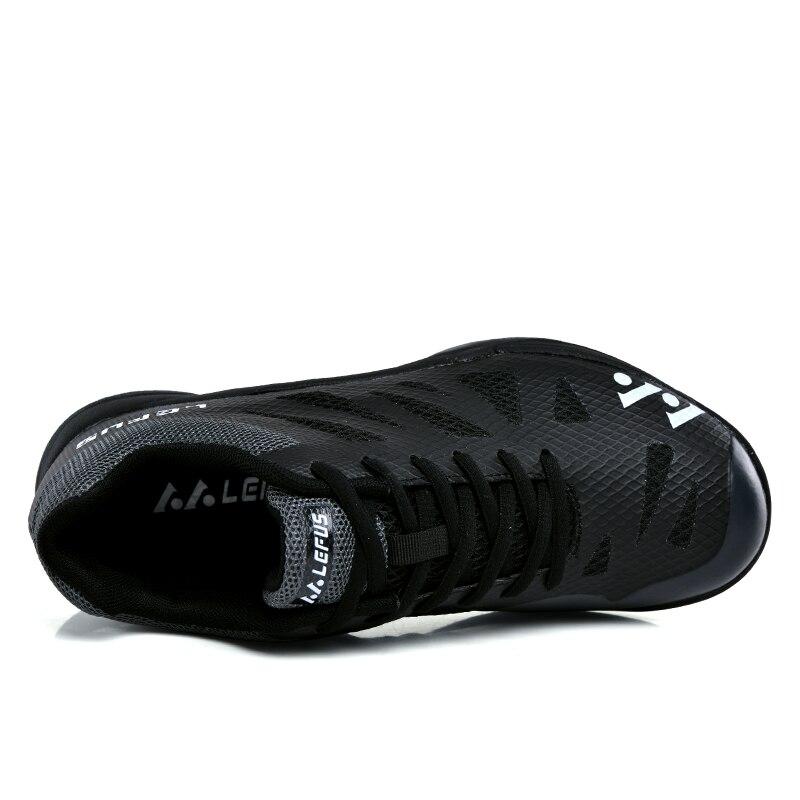Новинка 2020, брендовая мужская обувь для бадминтона, легкая тренировочная обувь для телячьего мышечного тенниса, черные, оранжевые мужские Нескользящие кроссовки для бадминтона-2