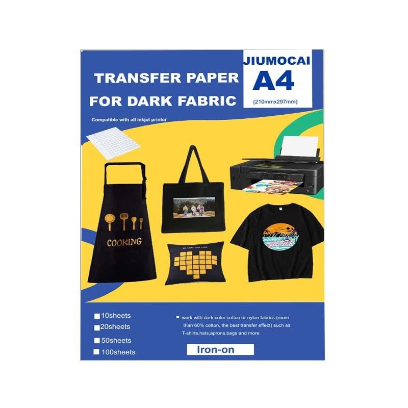 Термотрансферная Бумага для футболок A4, печатный термотрансферный винил, яркий цвет и долговечность, Термотрансферная Бумага для темной тк...