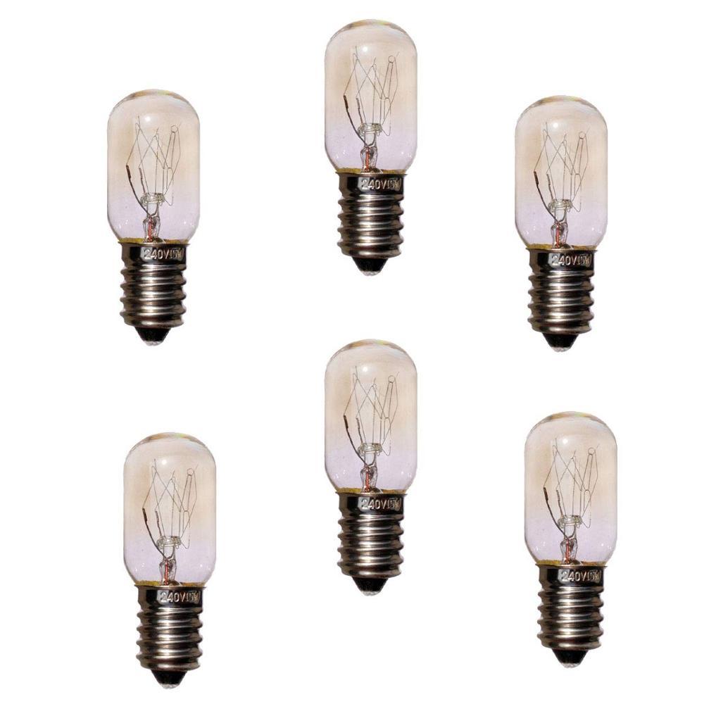 6 шт. 220 В 15 Вт E14 светильник ПА для холодильника лампочки для плиты Вольфрамовая Лампа накаливания солевая лампа s