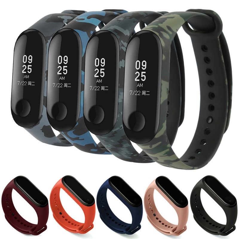 For Xiaomi Mi Band 4 3 Strap Replacement Wrist Straps Bracelets Silicone Watch Band for Xiaomi MI Band Wristband Strap