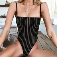 new sexy summer rompers for women 2021 club evening jumpsuits skinny spaghetti strap summer bodycon playsuit striped jumpsuit