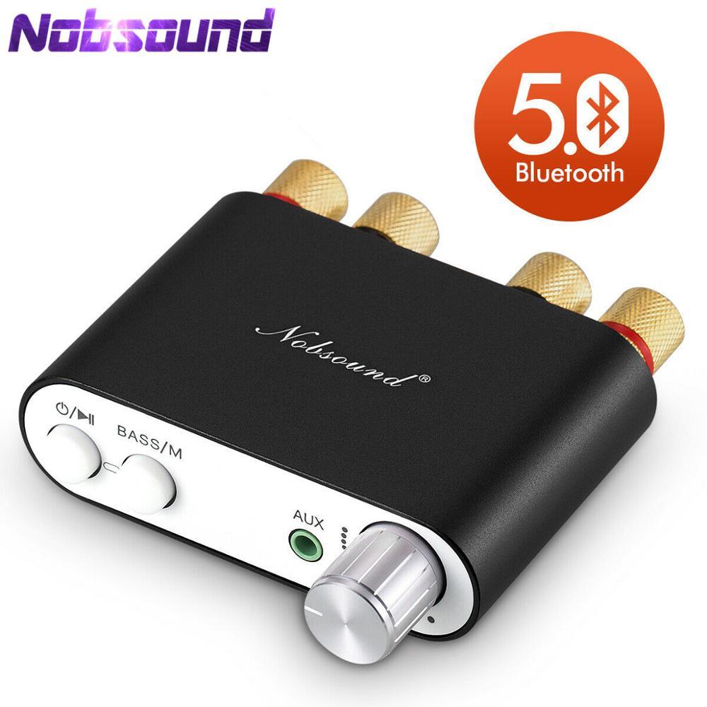 2020 dernier Nobsound TPA3116 Bluetooth 5.0 Mini amplificateur numérique stéréo HiFi maison Audio puissance amplificateur Audio récepteur USB DAC 50W × 2