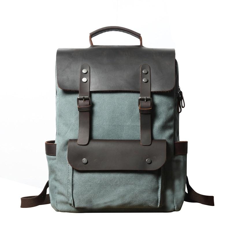 YUPINXUAN-حقيبة ظهر جلدية كلاسيكية للرجال ، حقيبة ظهر للكمبيوتر المحمول مقاس 14 بوصة ، مقاومة للماء ، كبيرة ، 2021