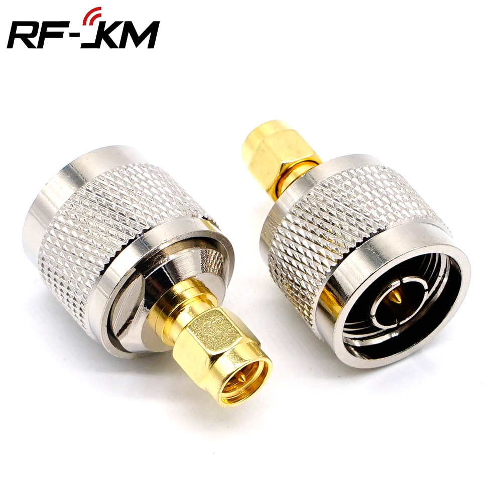 high quality copper rf coaxial coax n male to sma male connector sma to n plug adapter High Quality Copper RF Coaxial Coax N male to SMA male Connector SMA to N Plug Adapter
