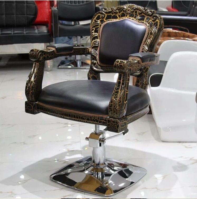 Европейские пластиковые парикмахерские стулья из стекловолокна, парикмахерские стулья, подъемные стулья, стулья для стрижки волос