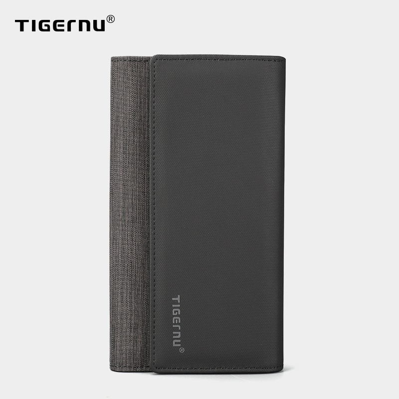 Tigernu Mens Wallet Long Clutch Bags Wallets For Men Wallet Male Slim Purse Fashion Male Coin Pocket Wallets for credit cards