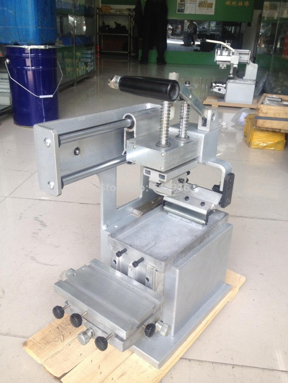 free shipping discount with gift 4 color 2 station silk screen printing machine tshirt printer press equipment carousel squeegee Manual Pad Printing Press Machine Company Logo Printer Equipment Single Color Oil Stamping  Design Die Board Pad Head