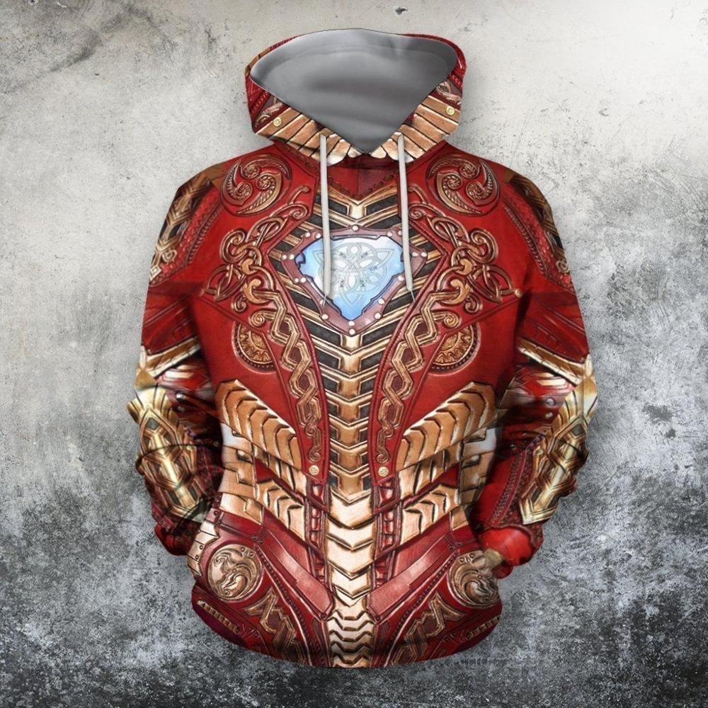 3D All Over Printed Super Hero Armor Hoodie For Men/Women Harajuku Fashion Sweatshirt Cosplay Casual Jacket Pullover KJ006