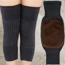 Ginocchiere in Cashmere 2 pezzi inverno caldo uomo e donna doppio spessore protezione lana ginocchio più velluto vento e equipaggiamento protettivo freddo