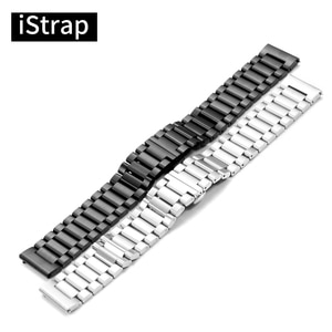iStrap 22mm Stainless Steel Watch Band Metal Watchband for Moto 360 2 2nd Gen Man/Gear s3 Frontier Classic/ Pebble Time Steel