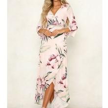 Dress Boho Style Women Dresses Elegant Long Dress Summer Beach Sundress Clubwear Ladies Dresses Party Clothes
