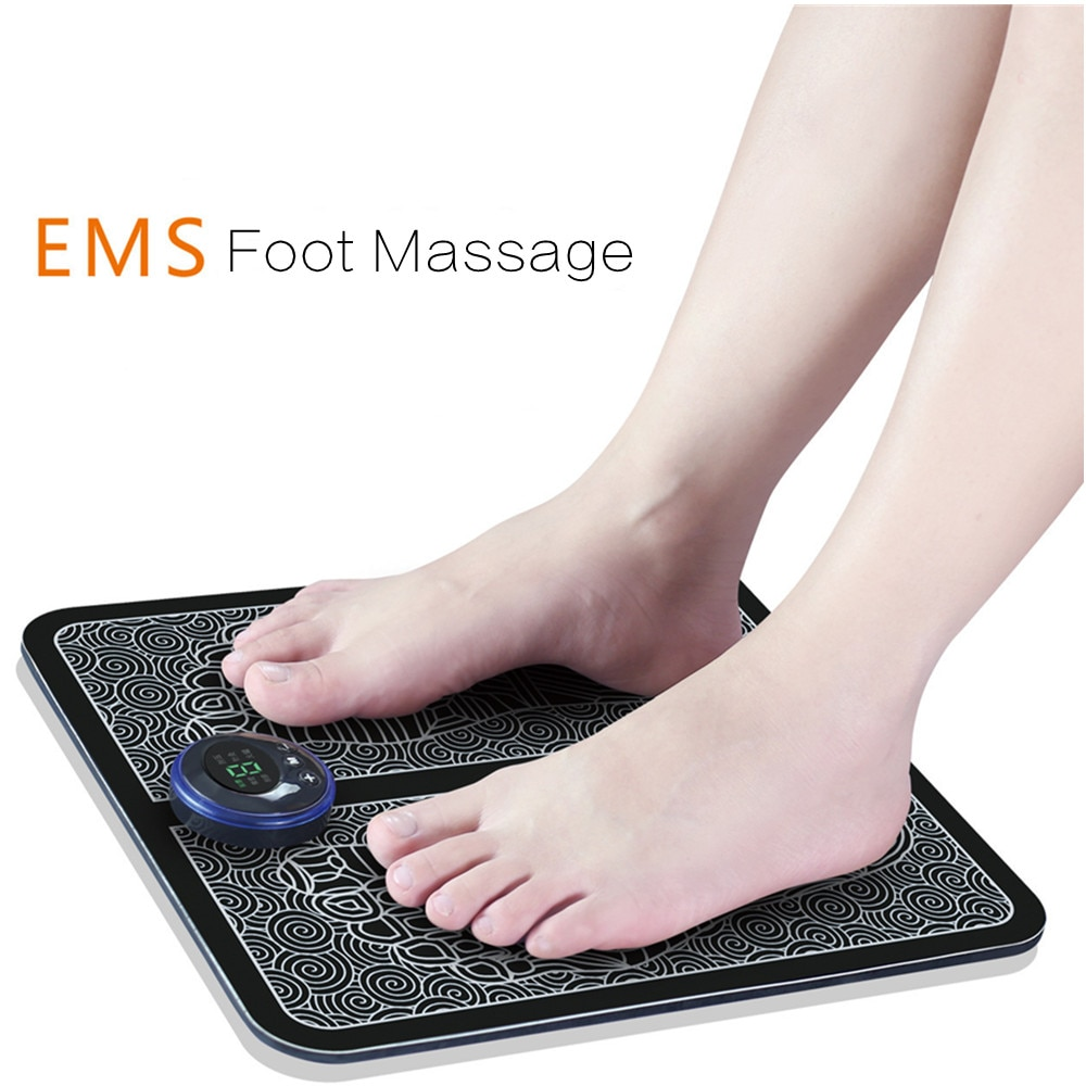 USB charging ESM foot massager electric physical therapy pulse machine pads vibrolegs massage des pieds masaje pies hanriver multifunctional physical therapy electrotherapy acupoints foot foot massager household 220 v pedicure machine