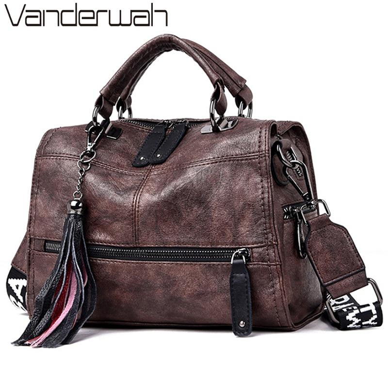 Hot Vintage Leather Tassels Luxury Handbags Women Bags Designer Handbags High Quality Ladies Hand Sh