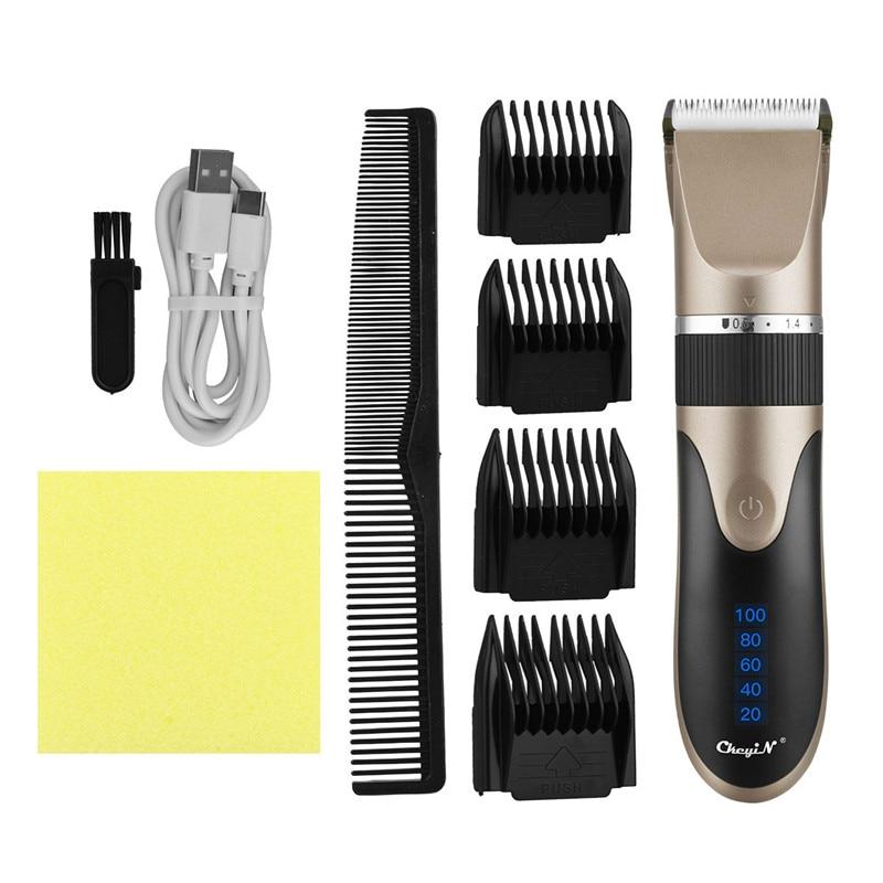 Professional Hair Trimmer Digital Usb Rechargeable Hair Clipper for Men Haircut Ceramic Blade Razor Hair Cutter Barber Machine enlarge