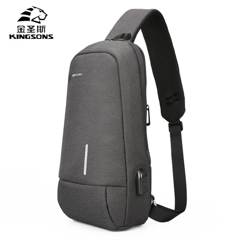 KINGSONS Brand New Men's Crossbody Shoulder Bags High quality Tote Fashion Business Man Messenger Ba
