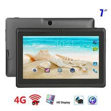 Neue Original 7 zoll Tablet Pc Allwinner A33 Quad Core 4G Anruf Google Markt GPS WiFi FM Bluetooth wiFi Tabletten