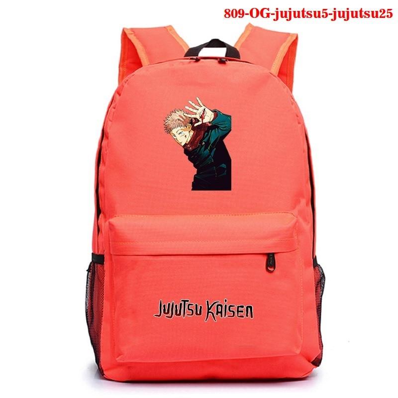 Anime Jujutsu Kaisen Women Backpack Kawaii School Bags Nylon Bookbag Cartoon Travel Bagpack School Rugzak Anime Backpack Bags