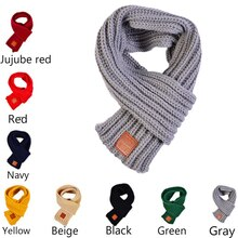 2020 New Hot Fashion lovely cotton knitted kids scarf solid winter warm scarves children baby boy gi