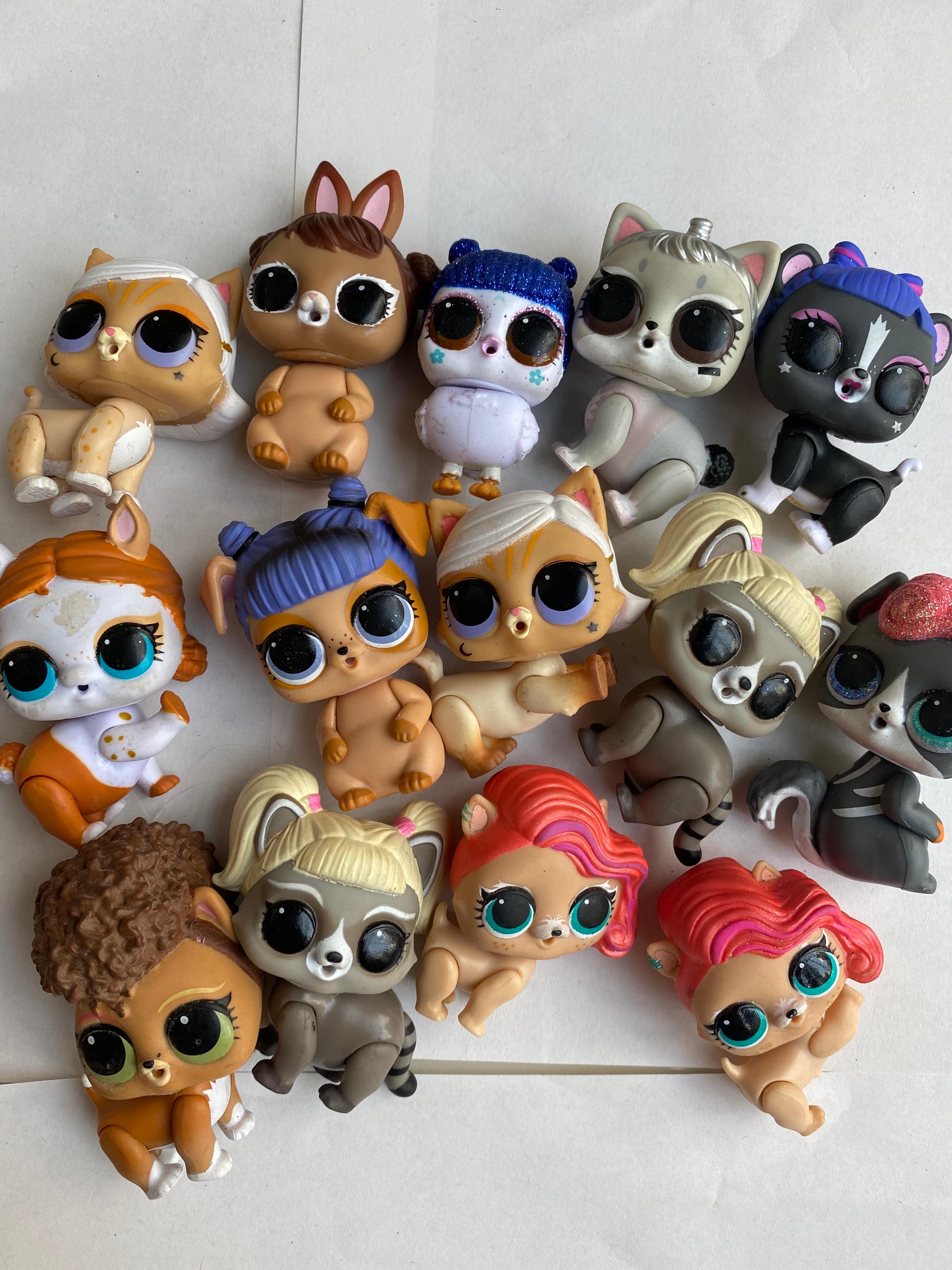 5pcs/set LOL doll Surprise Original pets Dolls Action Figure Model Girl Christmas gift toys for chil