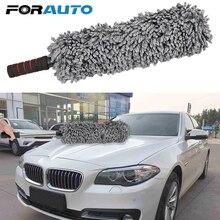 Автомобильная щетка пыльник, Универсальная регулируемая щетка для очистки от грязи, мягкая микрофибра, моющий инструмент, авто Уход, мойка автомобиля, очистка от пыли