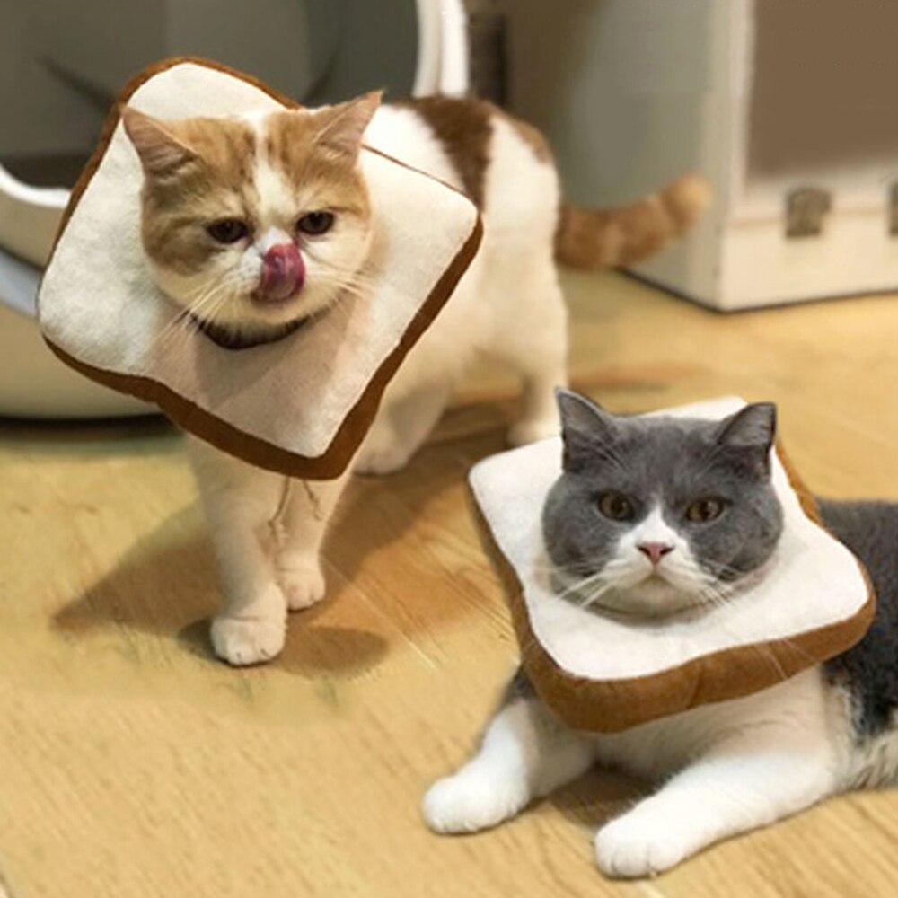 Новые Домашние собаки кошки креативный Кот тост шарф собака мягкий хлеб ломтик