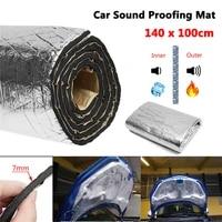 car truck firewall heat sound deadener noise insulation wool car heat sound thermal proofing pad 100100cm100140cm