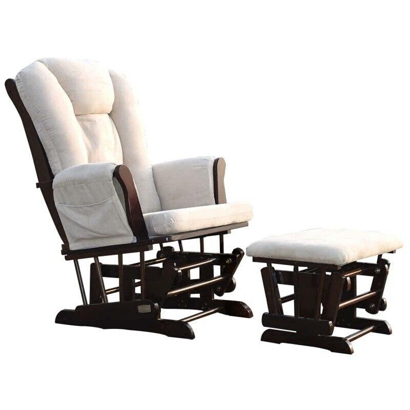 Mecedora de madera sólida para adultos al por mayor de fábrica para los ancianos silla mecedora de ocio al aire libre silla mecedora de enfermería Nórdica